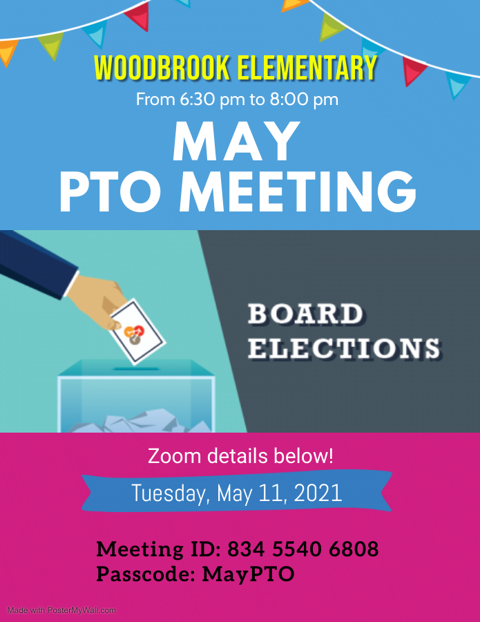 May PTO Meeting Online -Board Elections